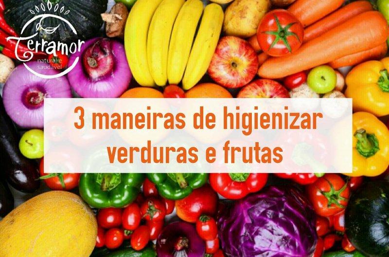 3 maneiras de higienizar suas verduras e frutas